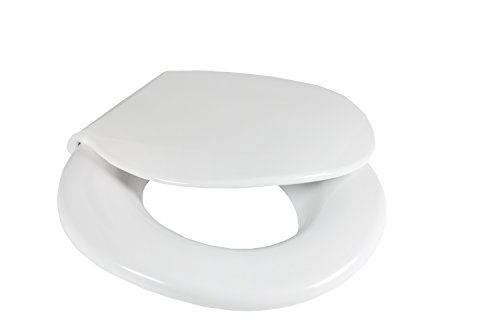 Big John 1-W Oversized Toilet Seat with Cover and Stainless