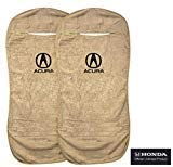 Seat Armour 2 Piece Front Car Seat Covers for Acura - Tan Terry Cloth