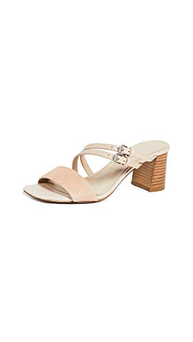 botkier Women's Dune Strappy Block Heel Sandals, Biscuit, Tan, 10 Medium US