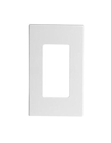 (Leviton 80301-SW 20 Pack 1-Gang Decora Plus Wallplate Screwless Snap-On Mount, White)