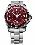 Victorinox Swiss Army Maverick Red Dial SS Quartz Male Watch 241604 - Small Swiss Army Watch
