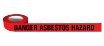 Barrier tape 4 mil dnger asbestos (8 Rolls)