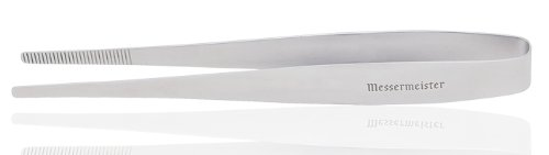 Messermeister Fine Culinary Plating Tongs in Stainless (10.5 Inches)