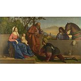 [The Polyster Canvas Of Oil Painting 'Vincenzo Catena A Warrior Adoring The Infant Christ And The Virgin ' ,size: 12 X 21 Inch / 30 X 52 Cm ,this Reproductions Art Decorative Prints On Canvas Is Fit For Laundry Room Artwork And Home Decoration And] (Warrior Fiona Costumes)