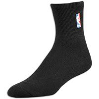 NBA Logoman Quarter Length Sock, Black, Medium