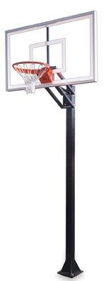 最初チームChamp nitro-bp steel-glass in ground調整可能バスケットボールsystem44、フォレストグリーン B01HC0BGFI