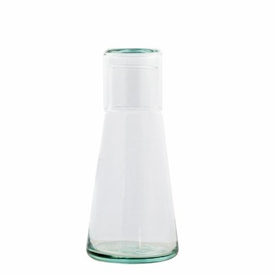 Grehom Recycled Glass Carafe & Tumbler - Conical (Recycled Glass Carafe)