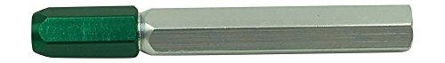 Meyer Gage 1WSE Single Ended Green Cap Gage Handle, 0.005 to 0.075 Range, Aluminum
