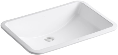 KOHLER K-2215-0 Ladena Under-Mount Bathroom Sink, - Mount Sink Undercounter