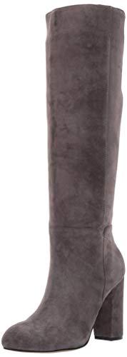 STEVEN by Steve Madden Women's TILA Knee High Boot, Grey Suede, 8 M US