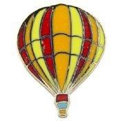 Metal Lapel Pin - Blimps and Balloons - Hot Air Balloon - Stripes