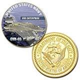 - U.S. Navy USS Enterprise CVN-65 GP Challenge Coin