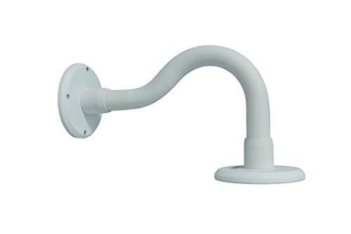 Kenuco White Universal Wall Mounted Gooseneck Bracket Adapter Plate CCTV Surveillance Cameras ()