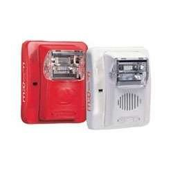 Gentex GES3-12WR 12VDC Selectable Candela Low Profile Evacuation Strobe - Red Faceplate