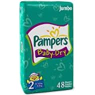Pampers Baby Dry Diapers, Size 2, Sesame Street, 48-Count