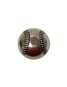 Snap Charming Silver Baseball Interchangeable Jewelry Snap Button Accessory