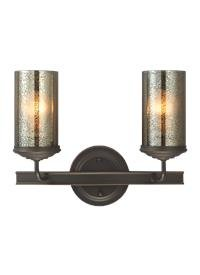Sea Gull Lighting Sfera Autumn Bronze Energy Star Two-Light LED Bath Vanity with Mercury Glass (Mercury 3 Light Bath)
