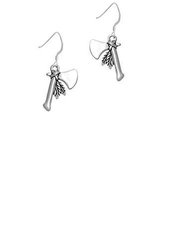 Tomahawk with Feathers - French (Tomahawk Earrings)