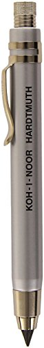 Koh-i-noor Silver All Metal Lead Holder with Sharpener 5359 (Koh Pencil I-noor Mechanical)