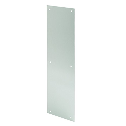 Prime-Line MP4581 Door Push Plate, 4 X 16-Inch, Satin Aluminum, Pack of - Plate Inch 16 Aluminum Push