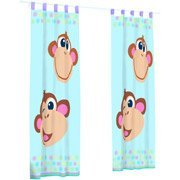 Love Peace Monkey Curtains Drapes Window Panels