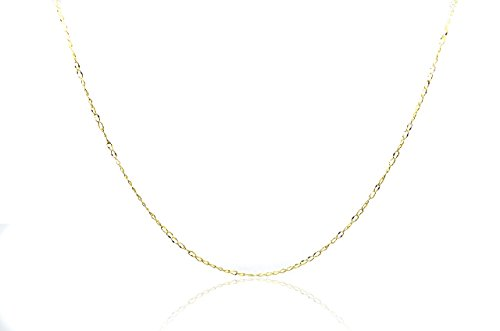 [Chelsea Jewelry Basic Collections 2.0mm Wide 18K Gold Ultra Thin Cable Chain Necklace (20 Inches, yellow-gold)] (18k Yellow Gold Thin)