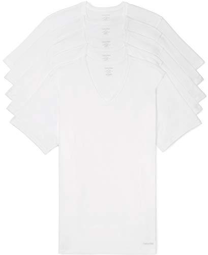 Calvin Klein Men's Cotton Classic Slim Fit V Neck T-Shirts