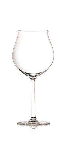(SET OF 2 Oversized Elegant Crystal Burgundy Grande Wine Glasses - 33 Ounce, Dishwasher Safe Crystal - Lightweight, Durable & Scratch Resistant Titanium Crystal -Shanghai)
