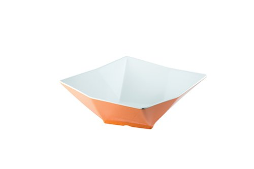 13 In Square Bowl (TableCraft Products MB134XW Angled Square Bowl, Large, 13