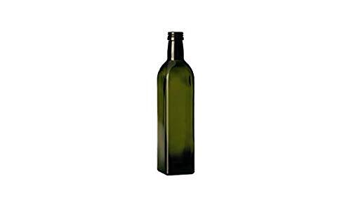 3 pezzi bottiglie vetro scuro UVAG bottiglia marasca olio liquore quadra capienza 250 ml con tappo acquaverde