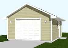 Garage Plans 1 Car Garage Plan 320 1 16 39 X 20 39 One