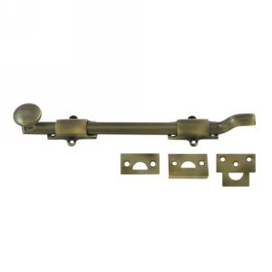 Deltana FPG105 HD Solid Brass 10-Inch Surface Bolt with Off-Set