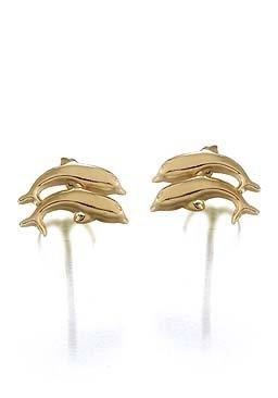 Boucles d'oreilles non pendantes Garçon Or jaune 750/1000