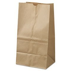 General 25# Squat Paper Bag, 40-lb Base, Brown Kraft, 8-1/4x6-1/8x15-7/8 by Betty Mills
