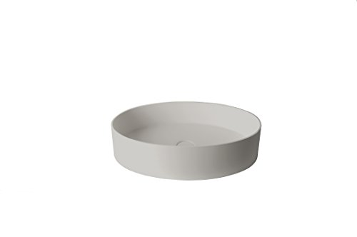 ID Solid Surface 24 in. Oval Vessel Sink Bowl Above Counter Sink Lavatory by ID Bath Collection