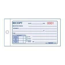 Rediform 8L820 Small Money Receipt Book 5 x 2 3/4 Carbonless Duplicate 50 Sets/Book ()