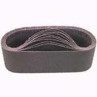 3M 340D Coated Aluminum Oxide Sanding Belt - 80 Grit - 4 in Width x 21 3/4 in Length - 27487 [PRICE is per BELT] 6261770