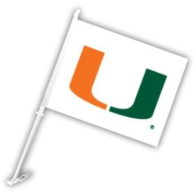 (Miami Hurricanes Car Flag)