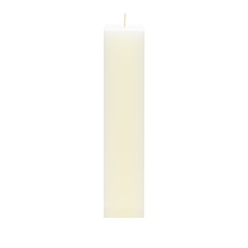 - Mega Candles Unscented Ivory Square Pillar Candle | Hand Poured Premium Wax Candles 2