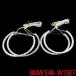 7000K Xenon White 284-SMD LED BMW Angel Eyes Halo Rings Kit For BMW E46
