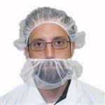 Beard Nets, Nylon Honeycomb, White, 1000/Case