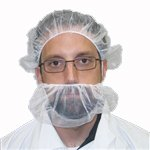 Beard Nets, Nylon Honeycomb, White, 1000/Case