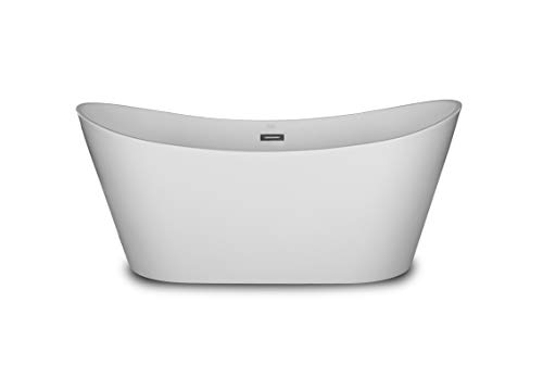 1001Now Bolsena 60 Freestanding White Acrylic Bathtub