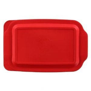 Pyrex Red Plastic Lid for 4 Quart (4.8 Quart Outside Measurement) Oblong Baking Dish SYNCHKG061660