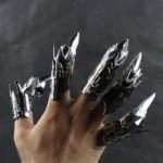 Halloween Costume Fancy Props Joint Bending Robot Nails (5 Pcs/set)