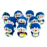 Cute Set of 10 Cartoon Style PVC Decoration Toy-Doraemon(5cm Height)