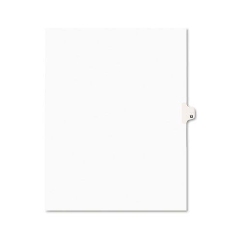 Avery Individual Legal Exhibit Dividers, Avery Style, 12, Side Tab, 8.5 x 11 inches, Pack of 25 (11922)