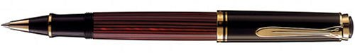 Pelikan Souveran R600 Rollerball Pen, Red/Black Barrel with Gold Accents (928721)