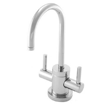 Dispenser 15s Cold Water - Newport Brass 106/15S Satin Nickel East Linear Double Handle Hot / Cold Water Dispenser