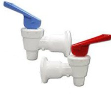 (OCSParts RB217 Sunbeam Water Cooler Faucet, Tomlinson Blue and Red Handle, Combo Pack (Pack of 2))